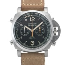 Panerai Luminor 1950 Regatta 3 Days Chrono Flyback pre-owned 47mm Black Chronograph Leather