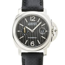 Panerai White gold Automatic Black 44mm pre-owned
