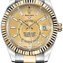Rolex Sky-Dweller Zlato/Ocel 42mm Zlatá Bez čísel