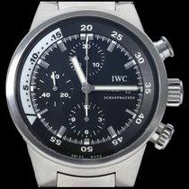 IWC Aquatimer Chronograph Staal 42mm Zwart Geen cijfers