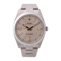Rolex Oyster Perpetual Acero 41mm Plata Sin cifras