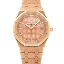 Audemars Piguet Rotgold Automatik Pink 37mm gebraucht Royal Oak Lady
