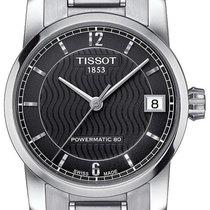 Tissot Titanium Automatic Stahl 32mm Grau Arabisch