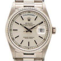 Rolex 18039 White gold 1986 Day-Date 36 36mm pre-owned