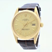 Rolex Oyster Perpetual Date Yellow gold 34mm Gold No numerals