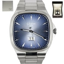 Glashütte Original Seventies Panorama Date Steel 40mm Blue United States of America, New York, Smithtown
