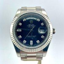 Rolex Day-Date II Oro bianco 41mm Nero Romani Italia, London