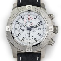 Breitling Super Avenger pre-owned 48mm White Chronograph Date Leather