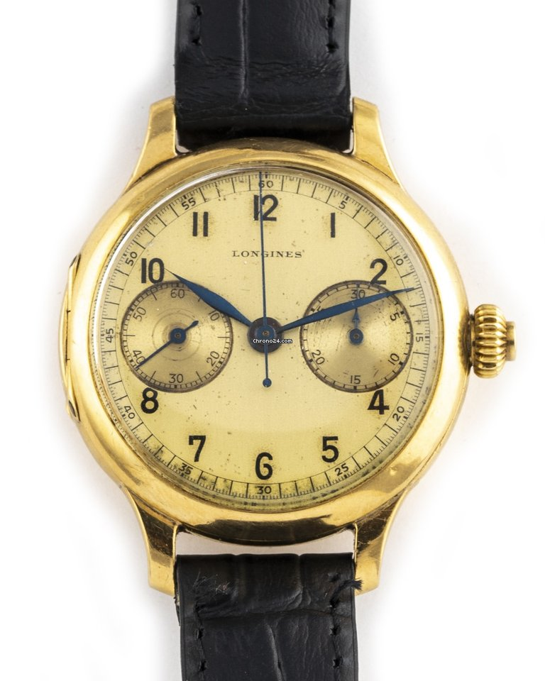 Longines Monopusher Chronograph CAL13.33 1929 pre-owned