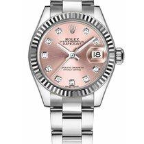 Rolex Lady-Datejust Acier 28mm Rose Sans chiffres