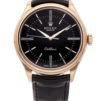 Rolex Cellini Time Ouro rosa 39mm Preto Romanos
