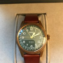 Oris Big Crown Pointer Date Bronze 40mm Green Arabic numerals United States of America, New Jersey, Hoboken