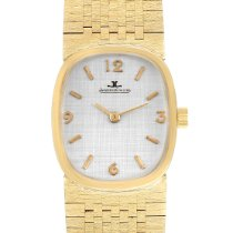 Jaeger-LeCoultre Yellow gold Manual winding Silver Arabic numerals 31mm pre-owned