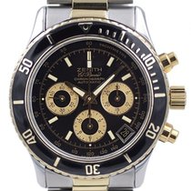 Zenith El Primero Chronograph pre-owned 40mm Black Chronograph Date Tachymeter Gold/Steel