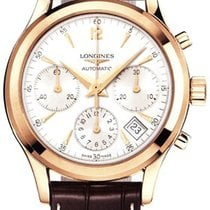 Longines Rose gold Automatic Silver 39mm new Column-Wheel Chronograph