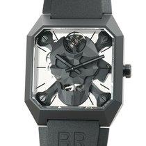 Bell & Ross Ceramic Manual winding Black 46mm new BR 01
