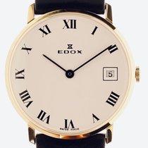 Edox Желтое золото Белый Римские 33mm новые