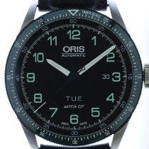 Oris Calobra Steel 44mm Black Arabic numerals