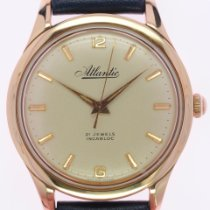 Atlantic Rose gold Silver No numerals 35.6mm pre-owned