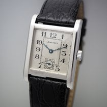 Longines White gold Manual winding Silver 26mm pre-owned DolceVita