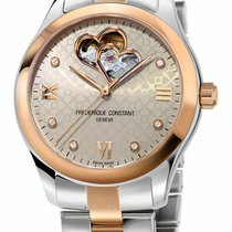 Frederique Constant Ladies Automatic Double Heart Beat Rose gold 36mm Grey Roman numerals United States of America, New York, Monsey