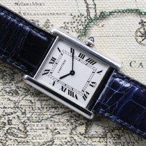 Cartier Platin Handaufzug Silber Römisch 24mm gebraucht Tank Louis Cartier
