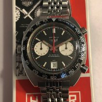 Heuer Steel 42mm Black No numerals United States of America, New Jersey, Cranford