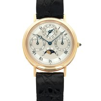 Breguet Yellow gold Automatic Silver 36mm pre-owned