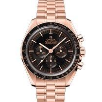 Omega Pозовое золото Механические Черный 42mm новые Speedmaster Professional Moonwatch