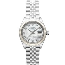 Rolex Lady-Datejust Gold/Steel 28mm White