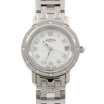 Hermès Clipper 24mm Biały