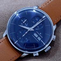 Junghans Meister Chronoscope Steel 40.7mm Blue No numerals