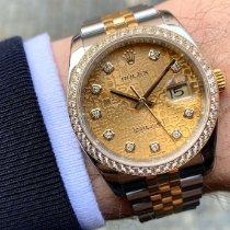 Rolex Datejust Золото/Cталь 36mm Золотой Без цифр