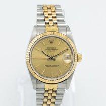 Rolex Lady-Datejust Guld/Stål 31mm Champagnefarvet Ingen tal