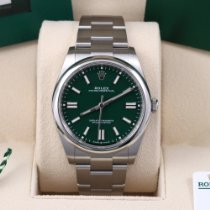 Rolex Steel Automatic Green No numerals 41mm new Oyster Perpetual