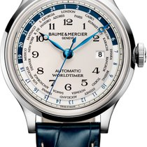 Baume & Mercier new Automatic Display back Luminous numerals Luminous hands 44mm Steel Sapphire crystal
