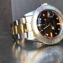 Rolex GMT-Master Acero y oro 40mm Marrón Sin cifras