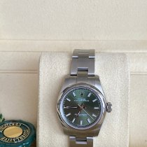 Rolex Oyster Perpetual 26 Stahl 26mm Grün Arabisch