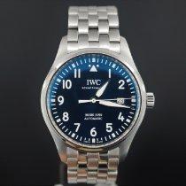 IWC Pilot Mark Çelik 40mm Mavi Arap rakamları Türkiye, istanbul