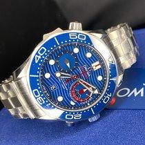 Omega Stahl Automatik Blau neu Seamaster Diver 300 M