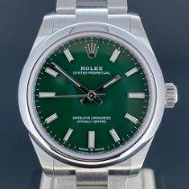 Rolex Oyster Perpetual 31 Acier 31mm Vert Sans chiffres