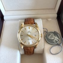 Omega Yellow gold Automatic Silver pre-owned Seamaster Aqua Terra