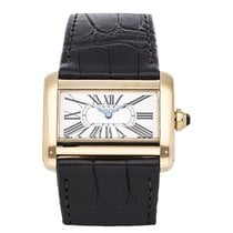 Cartier Tank Divan Yellow gold 31.5mm Silver United States of America, Pennsylvania, Bala Cynwyd