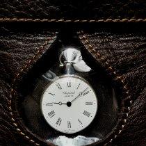 萧邦 Chopard Pocket watch 非常好 銀 28.50mm 手動發條