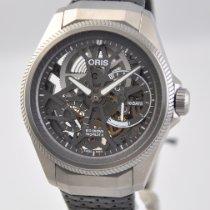 Oris new Manual winding Skeletonized Power Reserve Display 44mm Titanium Sapphire crystal