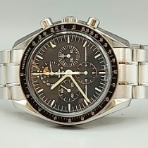 Omega Speedmaster Professional Moonwatch Moonphase подержанные 42mm Черный Индикатор фазы Луны Хронограф Тахиметр Сталь