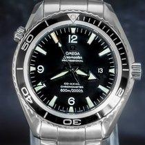 Omega Seamaster Planet Ocean Stahl 45.5mm Schwarz Arabisch