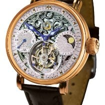 Poljot Red gold Manual winding Silver No numerals 43mm new