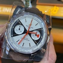 Breitling Steel Automatic Silver No numerals 41mm new Top Time