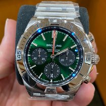 Breitling Steel Automatic Green No numerals 42mm new